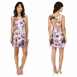 NWT Adrianna Papell open back jacquard party dress